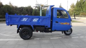 Waw Closed Chinese Cargo Diesel Motorized Three Wheel Truck for Sale pictures & photos