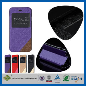 C&T New 2014 Arrival Product Flip Leather Case for Apple iPhone 6 pictures & photos