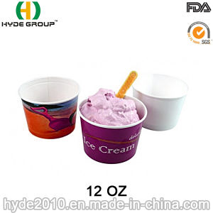 Disposable Ice Cream Paper Cup (12oz-1) pictures & photos