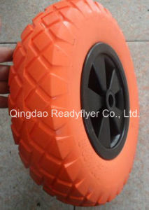 4.00-8 Flat Free Wheel/PU Foam Wheel pictures & photos