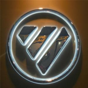 Backlit Chrome Acrylic LED Car Logo pictures & photos