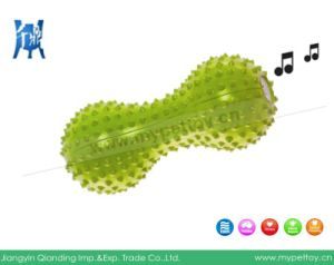 Rubber Spiked Dummbell Squaker Dog Toy pictures & photos