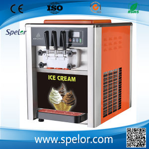 China Hot Sell Tabletop Soft Ice Cream Machine/ Bql-818t pictures & photos