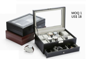 Leather Watch Case Display Storage Box for Sport Watch Stem-Winder Mechanical Watch Accessories Watchband Strap (Ys101) pictures & photos