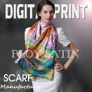Print Scarf Fabric (YC140) pictures & photos