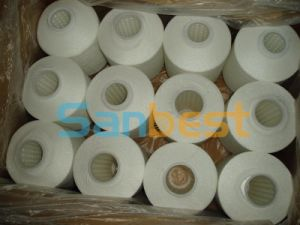 Raw White High Tenacity Polyester Multi-Filaments Sewing Thread pictures & photos
