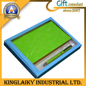 Professional Customized Notebook with Pen for Gift (P018) pictures & photos