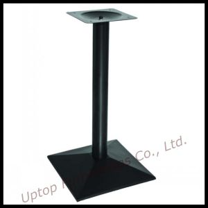 Single Leg Square Cast Iron Black Dining Table Base (SP-MTL143) pictures & photos