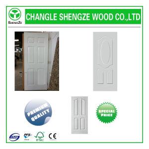 White Primer Coating HDF/MDF Moulded Door Skin pictures & photos