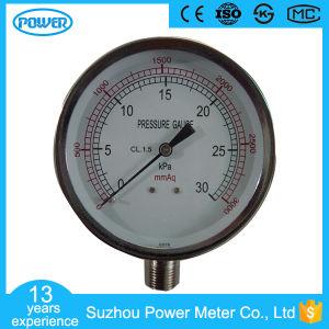 Stainless Steel 30kpa 80mm Capsule Low Pressure Gauge Kpa pictures & photos