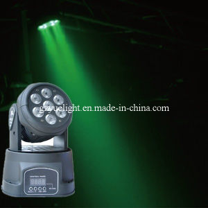 7PCS*10W 4in1 RGBW LED Mini Moving Head Light pictures & photos