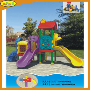 Children Wonderful Outdoor Plastic Playground for Park with Certificate Approved