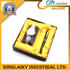 High Grade Watch+Pen in Gift Set for Promotion (KEM-011) pictures & photos