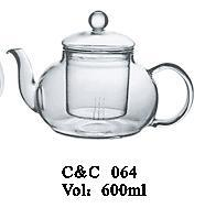 Wholesale Pyrex Glass Teapot with Glass Infuser Strainer, One Tea Pot Handblown 400ml