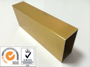 Golden Aluminum Profile pictures & photos