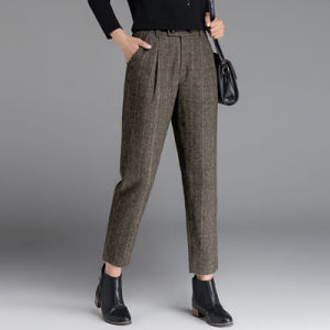 Latest Designed Basic Office Ladies Straight-Leg Tailored Pants pictures & photos