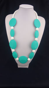 Silicone Beaded Teething Necklace 02#