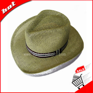 Woven Paper Straw Hat Panama Fedora Cowboy Hat pictures & photos