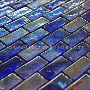 Iridescent Cobalt Blue Glass Mosaic Tile (L2IBS015)