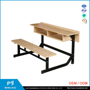 China Supplier High Quality Attached School Desks and Chair / School Desk pictures & photos