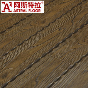 Derk Green Color Arc Click 12mm Embossed Laminated Flooring pictures & photos