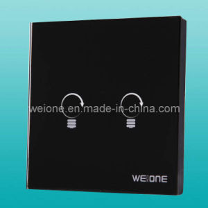 OEM/ODM RF Radio Frequency Tempered Glass 2 CH Remote Control Smart Switch