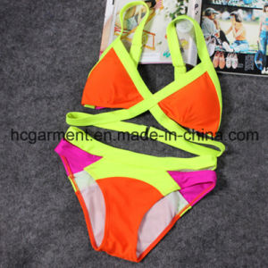 Sex Yellow Crocheting Bikini for Women/Lady, Swimwear Swimsuit Beach Wear pictures & photos