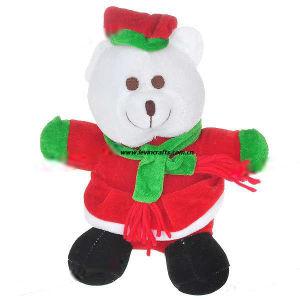 Plush Stuffed Christmas White Bear with Dress up