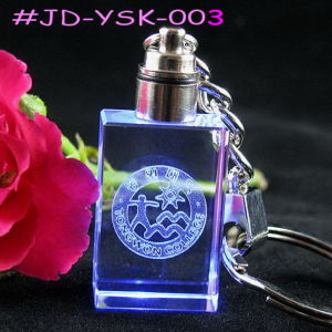 Laser Engraving LED Light Crystal Keychain Crystal Craft China Supplier pictures & photos