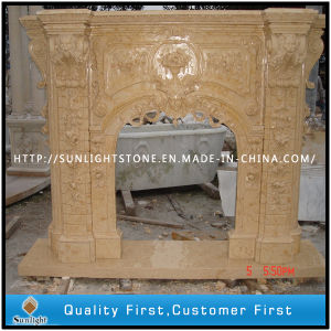 Stone Carving/Stone Fireplace/Marble Fireplace Mantel pictures & photos