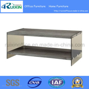 Modern Wood and Glass Coffee Table with Shelf (Z160708-2F)