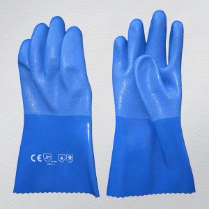 PVC Coated Work Glove with 13G String Knitted Lining (5112) pictures & photos