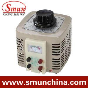 2kVA Contact Voltage Regulator Input 220VAC Single Phase Output 0~250VAC pictures & photos