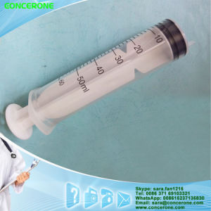 Large Plastic Syringe 50ml 60ml (Luer Lock Type) pictures & photos