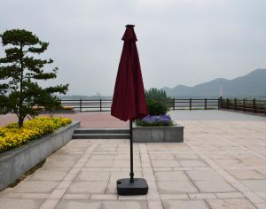 Solar Garden Umbrella Outdoor Umbrella Parasol with LED Light Umbrella pictures & photos