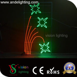 Outdoor Street Pole Lights Holiday Decoration Christmas 2D LED Motif Lights pictures & photos