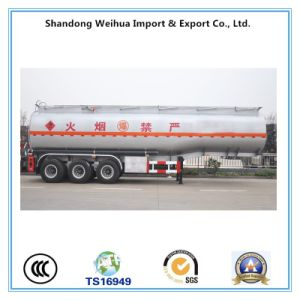 High Quality Aluminum Alloy Oil Tank Semi Trailer with 3 Axles pictures & photos