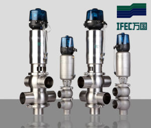 Sanitary Stainless Steel Pneumatic Intelligent Reversing Valve pictures & photos