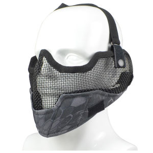 2015 Newest Camo Color Airsoft Strike Wire Mesh Half Face Airsoft Mask pictures & photos