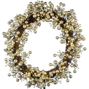 24in. Golden Starlite Creations Wreath with Batteris Operating 48 LEDs (MY255.258.00) pictures & photos