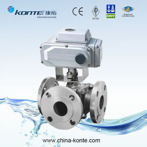 Flanged 3 Way Ball Valve with Electric Actuator pictures & photos