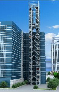 Pcx Vertical Lifting Parking System Tower Parking Lift pictures & photos