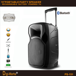 Best-Seller 2016 Plastic LED Wireless Bluetooth Portable Active DJ Speaker pictures & photos