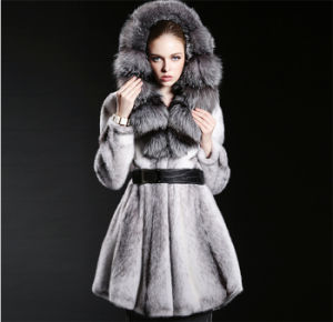 2015 High-End Customize Real Wholeskin Mink Fur Coat pictures & photos