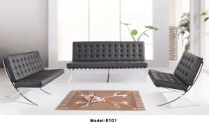 Modern Leather Leisure Sofa Office Sofa with Stainless Steel Frame (YA-8101) pictures & photos
