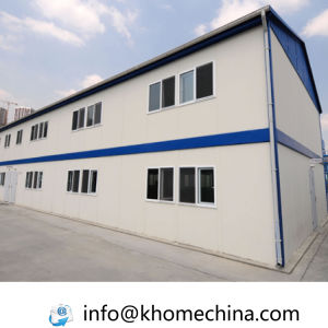 Low Cost Two Storey Prefabricated Steel Frame House pictures & photos