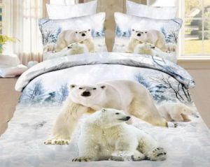 Bear Designs of Screen Printing Fabric for Bed Sheet pictures & photos