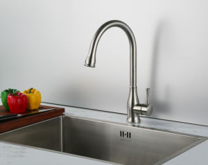 Single Lever Swivel Stainless Steel Kitchen Faucet pictures & photos