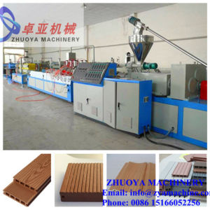 Green WPC Outdoor Decking/Flooring Making Machine pictures & photos