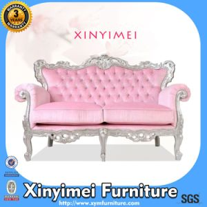 New Design Fabric Two Seat European Style Wooden Sofa (Xym-H104) pictures & photos